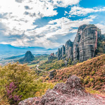 Monastery and Meteora valley, Greece