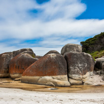 Granite Boulders at Squeaky Beach, Australia