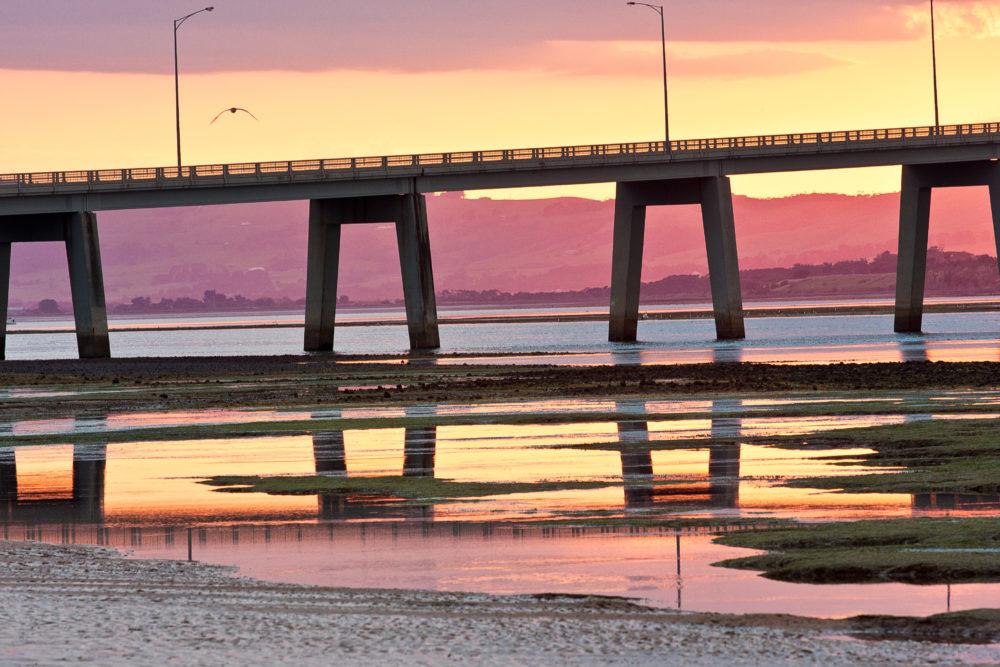 Bridge across to the Phillip Island from San Remo in Victoria, Australia