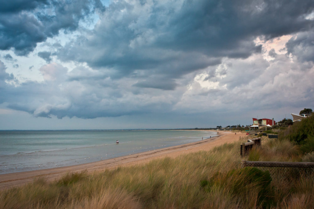 Dramatic stky over Mornington Peninsula Coastline