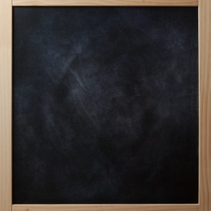 School blackboard in wooden frame.