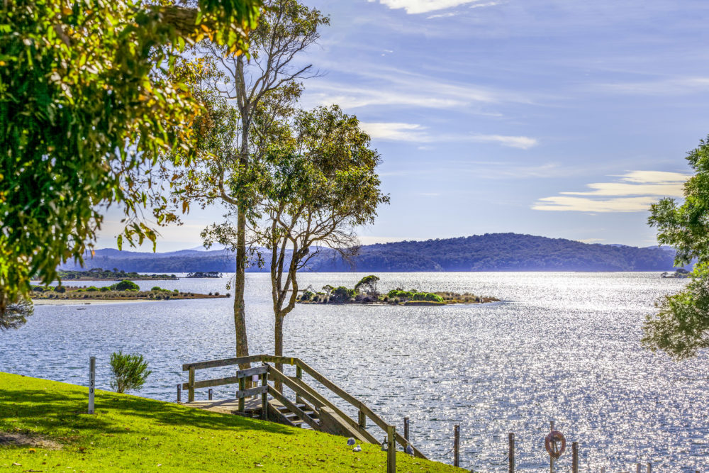 Australian Landscape at Mallacoota - shores of Wallagaraugh River