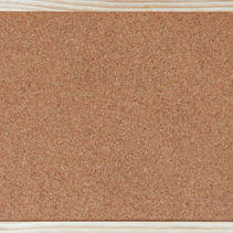 Empty corkboard / bulletin board with a wooden frame