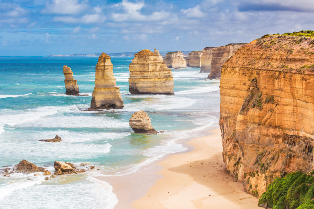 Twelve Apostles rock formations, Great Ocean Road, Victoria, Australia