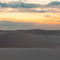 Untouched sand dunes at sunset - calmness and tranquility