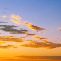 Beautiful orange sunset in the sky