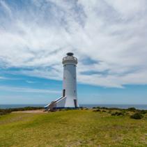 Point Stephens Lighthouse on Fingal Island, New South Wales, Australia