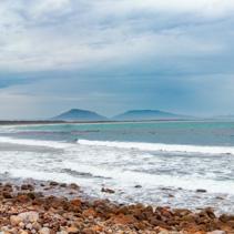 Panoramic landscape of Crowdy Bay beach. Crowdy Head, New South Wales, Australia