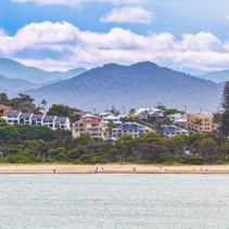 Luxury homes and mountains at Coffs Harbour, New South Wales, Australia