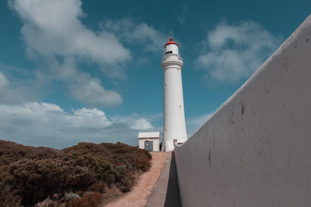 Cape Nelson lighthouse near Portland, Victoria, Australia