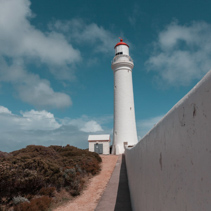 Cape Nelson lighthouse near Portland, Victoria, Australia