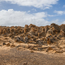 Unusual petrified forest - rock formations in Cape Bridgewater, Victoria, Australia