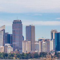 Sydney Skyline - high rise office buildings in the centre of Sydney, Australia