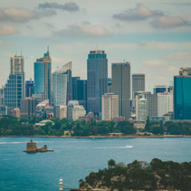 Sydney CBD skyline viewved from the harbour
