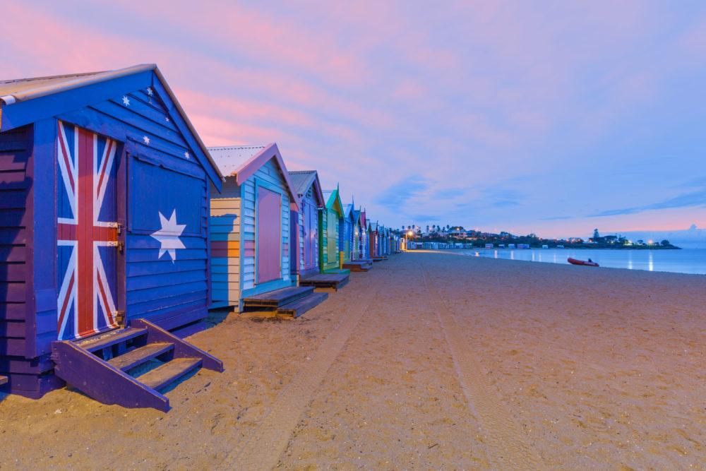 Beautiful Brighton bathing houses, Australia