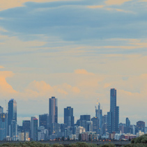 Melbourne skyline at sunrise