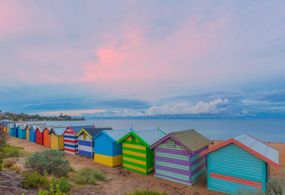 Brighton bathing houses, Australia