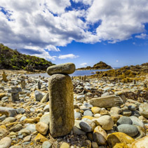 Rock cairn in Mimosa Rocks National Park, NSW, Australia
