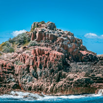 Unique rock formations in Mimosa Rocks National Park, NSW, Australia