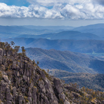 View of Australian Alps from Mt Buffalo Park lookout