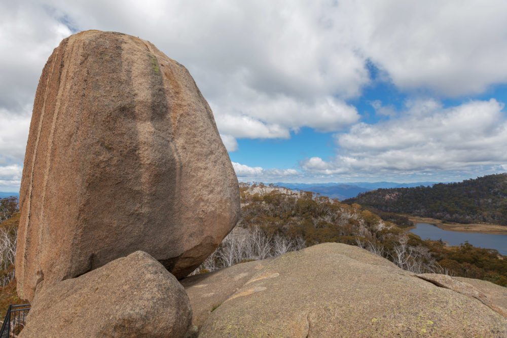 The Monolith - huge rock at Mount Buffalo National Park