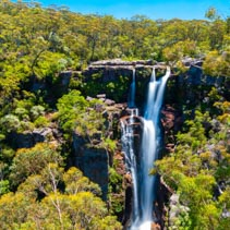 Carrington Falls - plunge waterfall in the Kangaroo River in Souther Highlands region of NSW, Australia