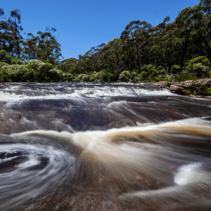 Beautiful swimming spot on the Carrington Falls in Budderoo National Park, NSW, Australia