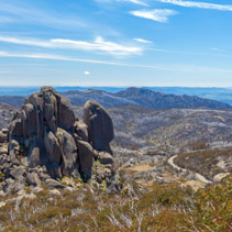 The Cathedral rock formation, Mt. Buffalo National Park