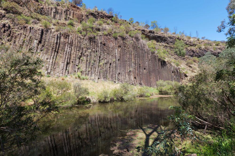Organ pipes rock formation at national park, Australia