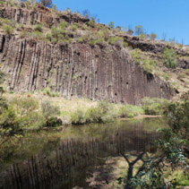 Organ pipes rock formation at national park, Australia
