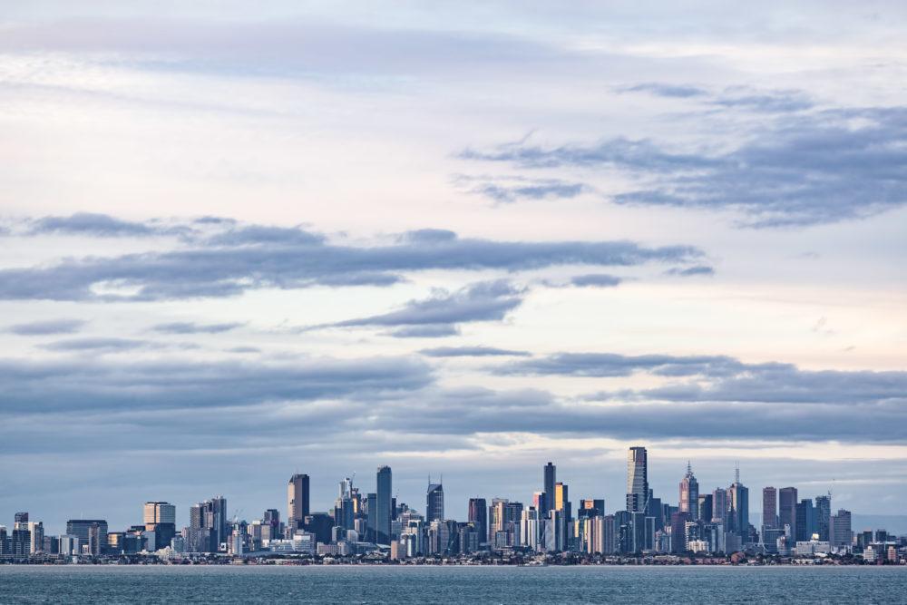 Melbourne CBD skyline at Dusk.