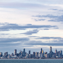 Melbourne CBD skyline at Dusk.