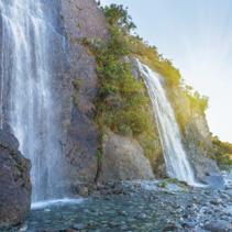 Trident Falls near Franz Josef Glacier, New Zealand