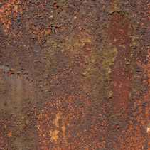 Old peeling paint from rusty metal background texture