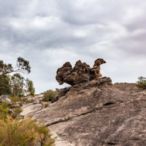 Huge boulder in shape of a camel in Grampians National Park