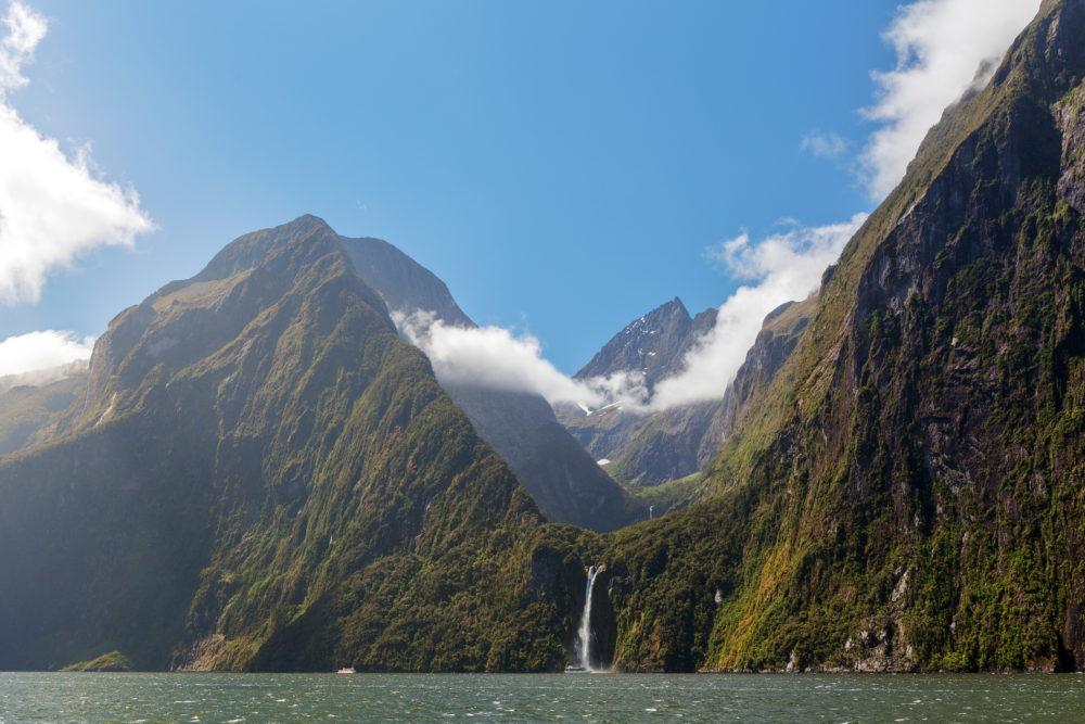 Majestic Stirling Falls, Milford Sound, Fiordland, South Island, New Zealand
