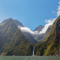 Majestic Stirling Falls, Milford Sound, Fiordland, South Island, New Zealand