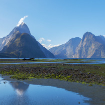 Mitre Peak at Milford Sound, Fiordland National Park, New Zealand.