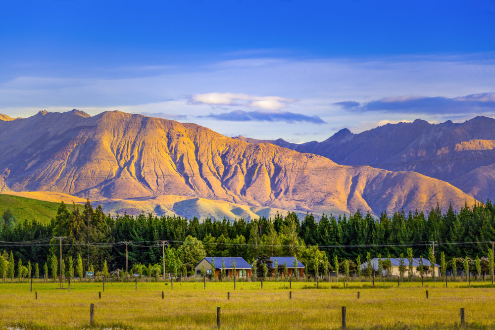 Magnificent hills at sunset, Fiordland, South Island, New Zealand