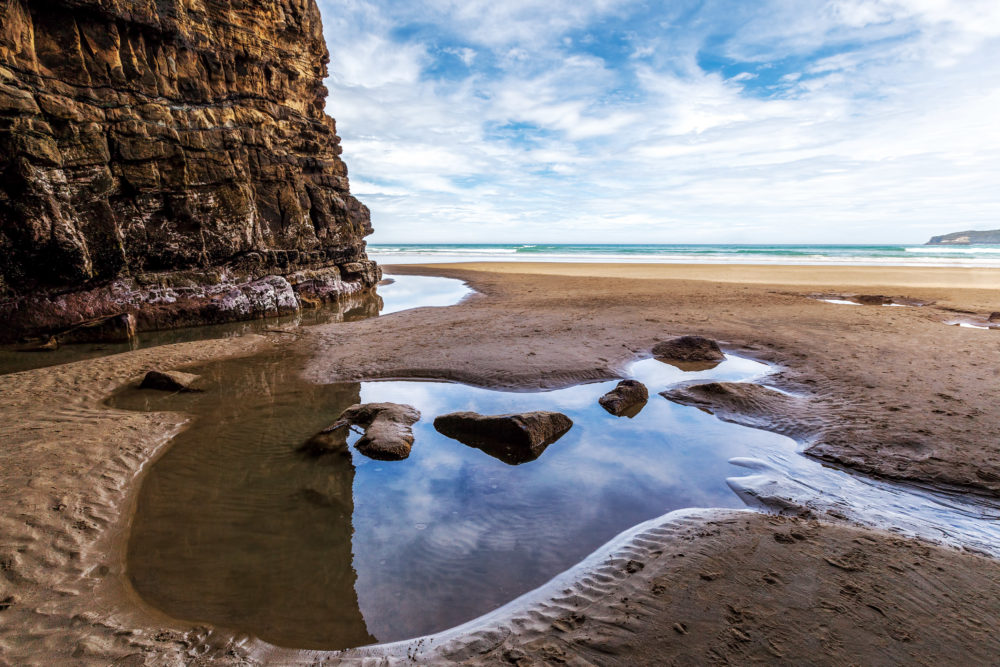 Waipati beach, Cathedral Cave, Catlins, South Otago, South Island,New Zealand