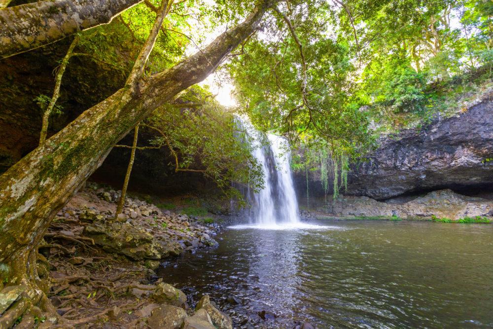 Scenic Killen Falls near Byron Bay, New South Wales, Australia