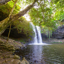 Scenic Killen Falls near Byron Bay, New South Wales, Australia