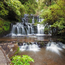 Purakaunui cascades waterfall, Catlins, South Island, New Zealand