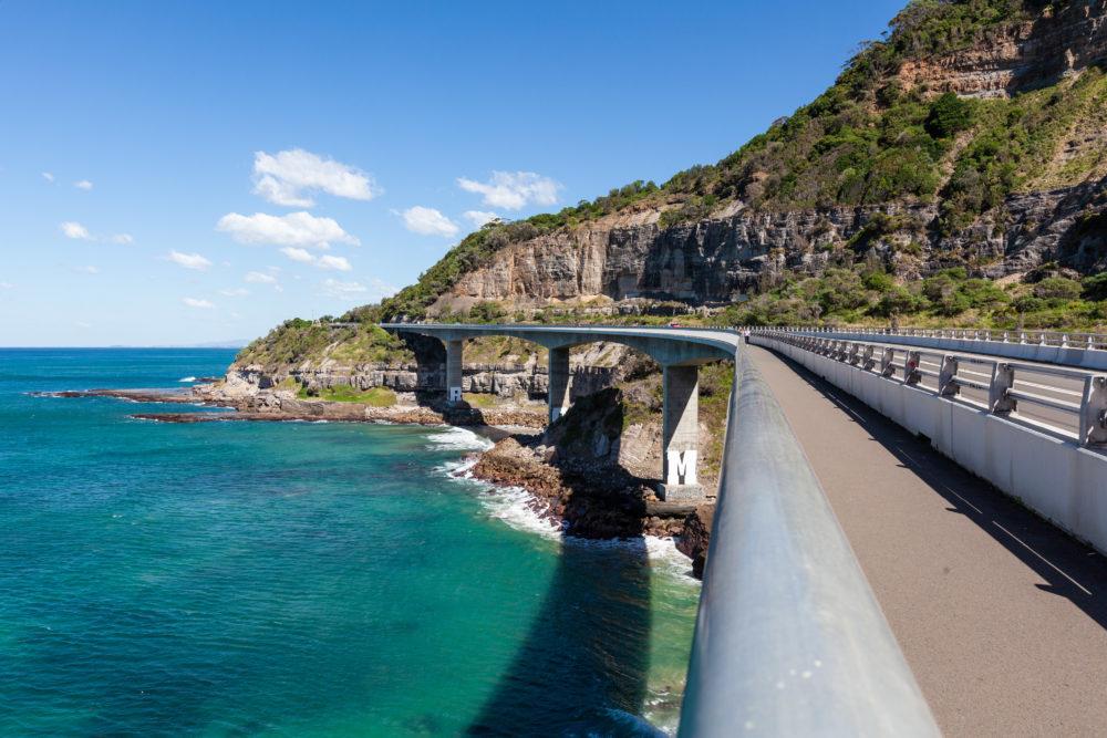 Sea Cliff Bridge - most prominent landmark on Grand Pacific Drive in New South Wales, Australia