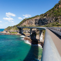 Sea Cliff Bridge - most prominent landmark on Grand Pacific Drive in New South Wales, Australia