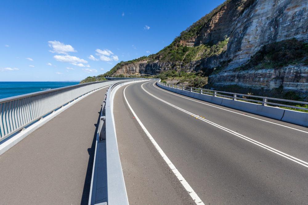 Sea Cliff Bridge - part of the scenic Grand Pacific Drive, NSW, Australia