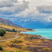 Lake Pukaki and Southern Alps, Canterbury, South Island, New Zealand