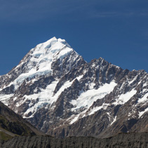 Aoraki Mount Cook in the summer, Canterbury, New Zealand