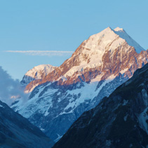 Aoraki Mount Cook at sunset, Canterbury, New Zealand
