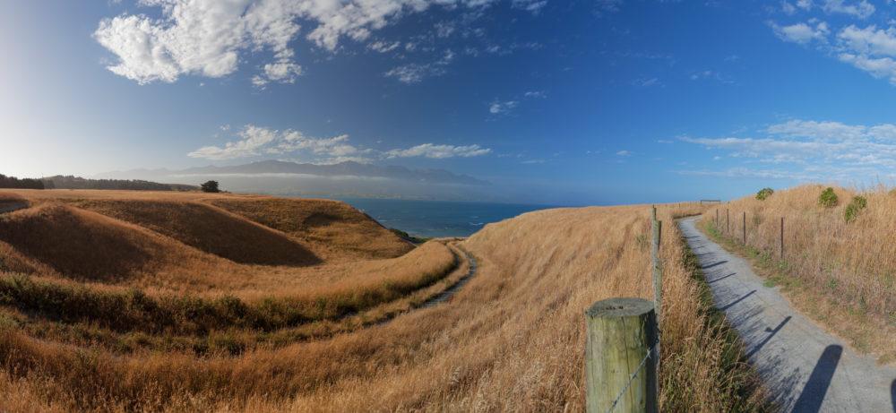 Beautiful views from Kaikoura Peninsula Walkway, Canterbury, New Zealand